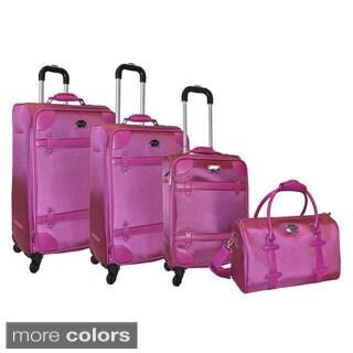 Adrienne Vittadini 1680 Denier Polyester 4-piece Spinner Luggage Set