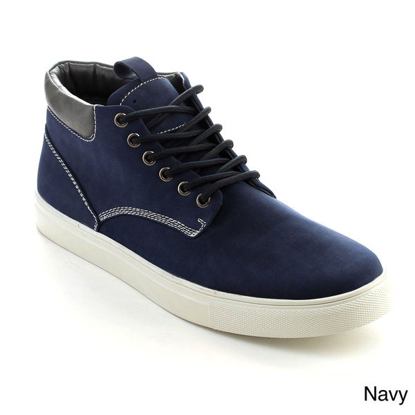 Arider BOB-01 Men's Lace-up Casual Flat Heel High-Top Sneakers