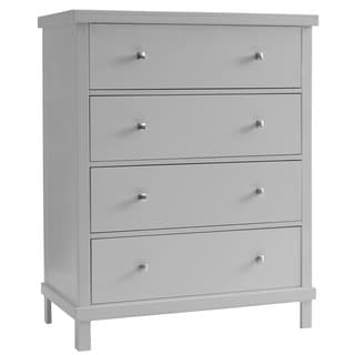 Sealy Bella 4 Drawer Contemporary Gray Dresser