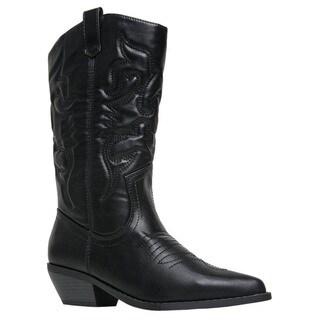 Soda RENO Women's Western Mid-calf High Boots