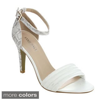 Annie Pinky TAMI-03 Women's Chic Open Toe Ankle Strap Stiletto Heels