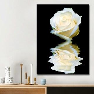 Ready2HangArt Bruce Bain 'Abstract Rose Blanc' Canvas Art