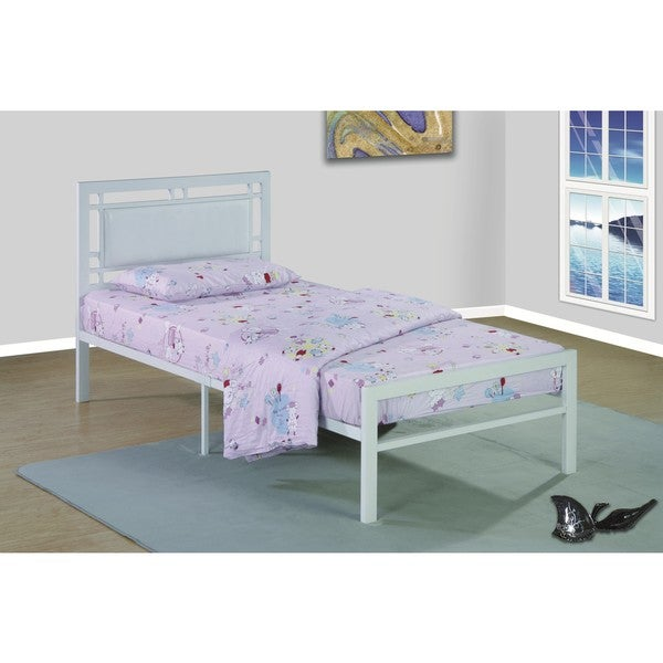 Metal Frame White Bed