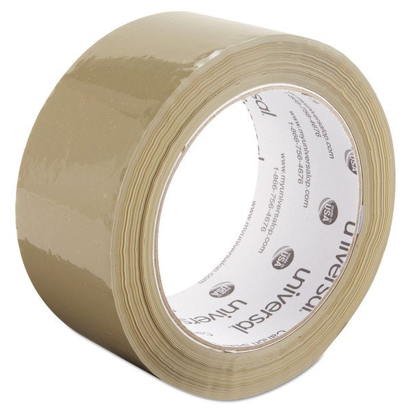 Universal Box Tan Sealing Tape (Pack of 6 Rolls)