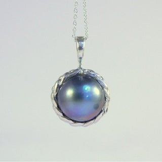 South Seas Mab Pearl Silver Necklace
