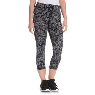 Vogo Performance Women's Leopard Print Capri Legging