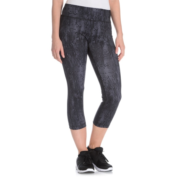 Vogo Performance Women's Snake Print Capri Legging