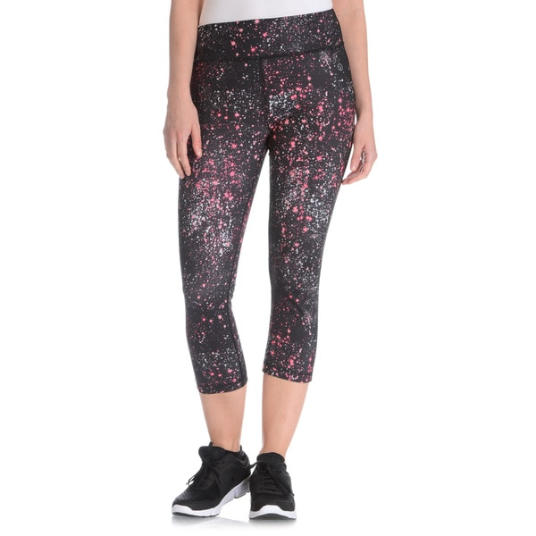 Vogo Performance Women's Galaxy Print Capri Legging