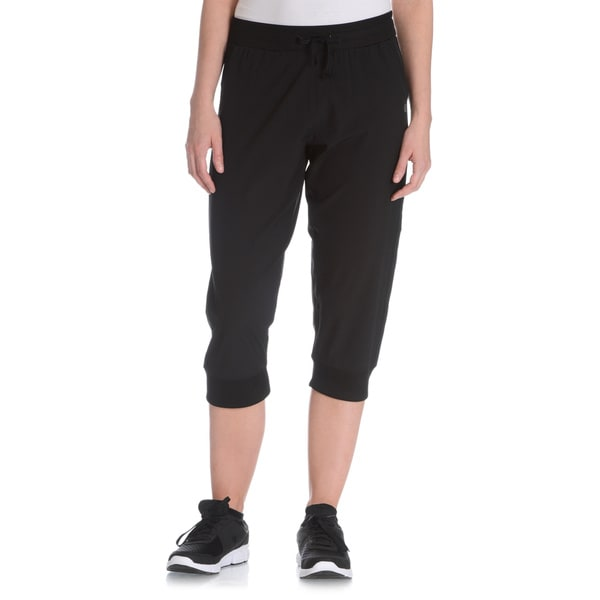 Vogo Performance Women's Active Woven Drawstring Capri Pant