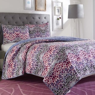 Steve Madden Janna Reversible Cotton 3-piece Quilt Set