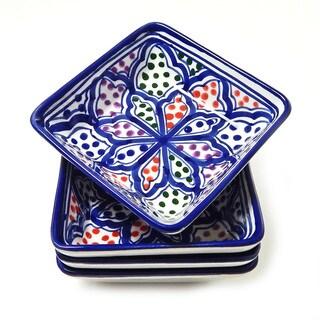 Square Sauce Dishes (Set of 4)  Blanqa Design, by Le Souk Ceramique