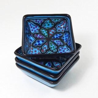 Square Sauce Dishes (Set of 4)  Turqa Design, by Le Souk Ceramique