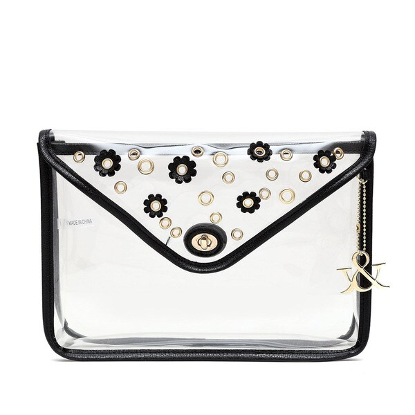 Hue & Ash Clear Flower Clutch