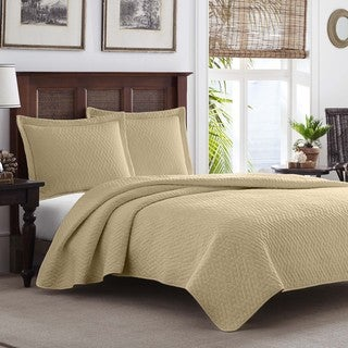 Tommy Bahama Chevron Sand 3-piece Quilt Set