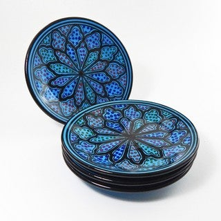 Side Plates (Set of 4)  Turqa Design, by Le Souk Ceramique