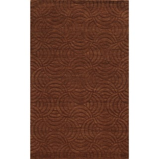 Technique Rust Wool Accent Rug (9' x 12')