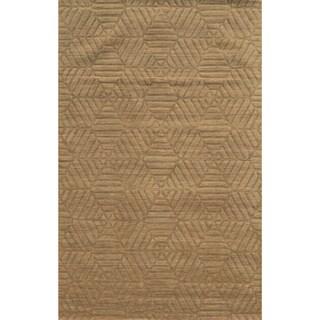 Technique Grey Wool Accent Rug (9' x 12')