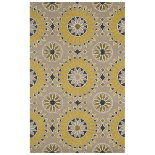 Bradberry Downs Beige/ Gold/ Dark Gold/ Black/ White Wool Accent Rug (9' x 12')