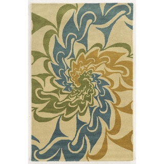 Bradberry Downs Ivory/ Gold/ Teal/ Lime Wool Accent Rug (9' x 12')