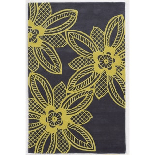 Bradberry Downs Grey/ Yellow Wool Accent Rug (9' x 12')