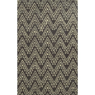 Bradberry Downs Dark Grey/ White Wool Accent Rug (9' x 12')