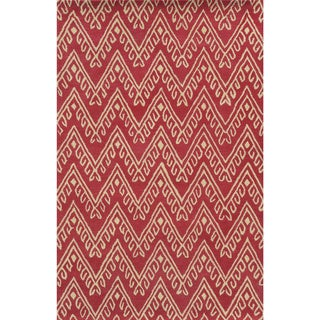 Bradberry Downs Pink/ White Wool Accent Rug (9' x 12')