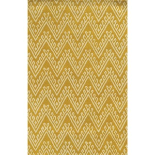 Bradberry Downs Yellow/ White Wool Accent Rug (9' x 12')