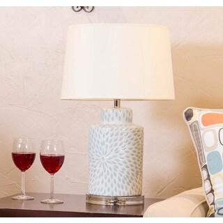 Somette Vanguard Series Porcelain Floral Jug Table Lamp