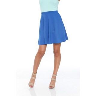 White Mark Women's Flared Mini Skirt
