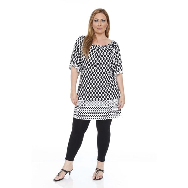 Women's Plus Size 'Thyra' Beehive Dress Tunic