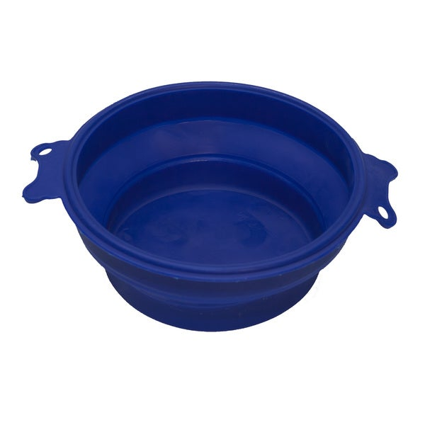 PetBuddy Pet Blue Travel Bowl Silicone Collapsible Feeder Water Dish