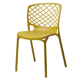 Kristoff Dark Yellow Stackable Chairs (Set of 2)