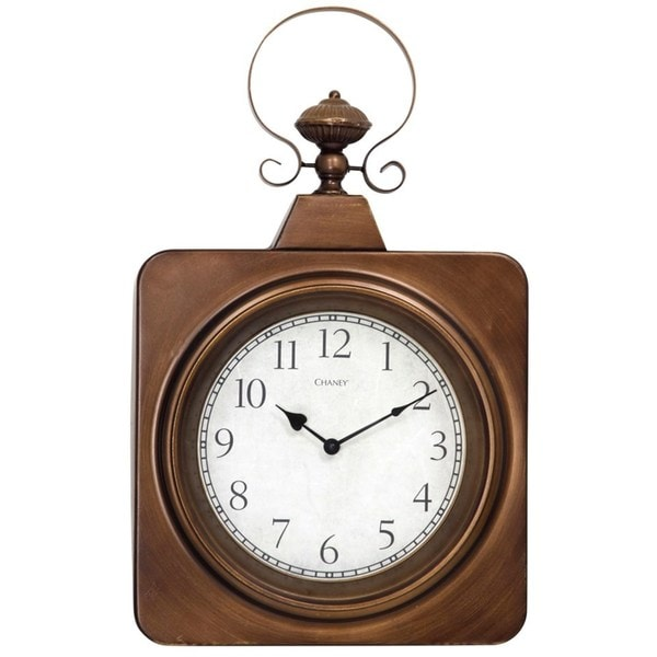 Antique Brass Square Metal Wall Clock