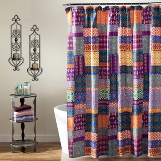 Lush Decor Misha Orange Shower Curtain