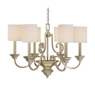 Capital Lighting Transitional Painted Winter Gold 6 Light