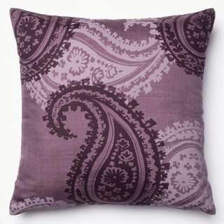 Kera Purple Paisley 18-inch Feather and Down Filled or Polyester Throw Pillow or Pillow Cover