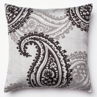 Kera Black Paisley 18-inch Feather and Down or Polyester Filled Square Throw Pillow or Pillow Cover