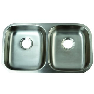 Double Bowl Undermount 32-inch Stainless Steel Kitchen Sink