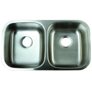 Double Bowl Undermount 32-inch Stainless Steel Kitchen Sink