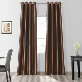 Exclusive Fabrics Grommet Blackout Faux Silk Taffeta 120-inch Curtain Panel