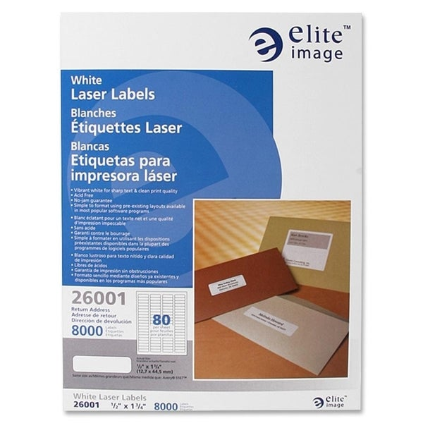 Elite Image Return Address Label (8000 per Pack)