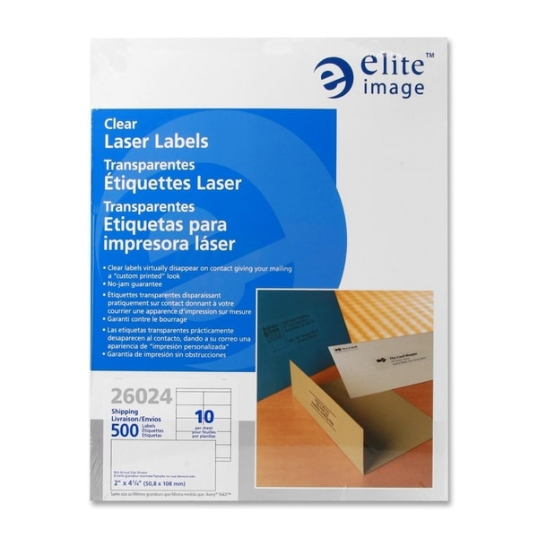 Elite Image Shipping Laser Label (500 per Pack)