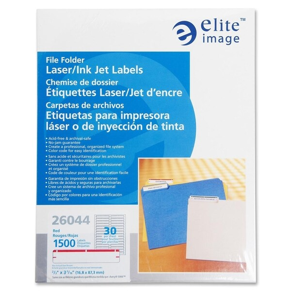 Elite Image Permanent Laser/ Inkjet Filing Label (1500 per Pack)