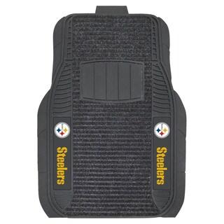Fanmats Pittsburgh Steelers Charcoal Vinyl Deluxe Floor Mat Set