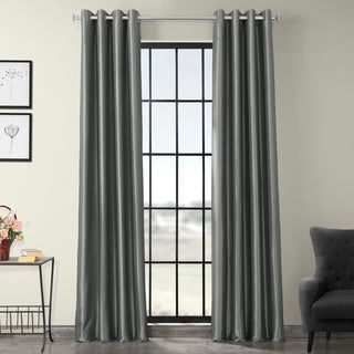 EFF Grommet Blackout Faux Silk Taffeta 96-inch Length Curtain Panel