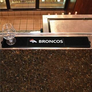Fanmats Denver Broncos Black Rubber Drink Mat