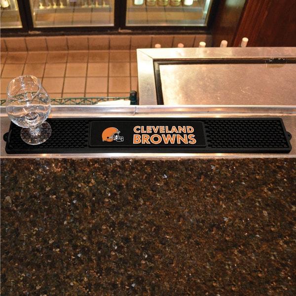 Fanmats Cleveland Browns Black Rubber Drink Mat