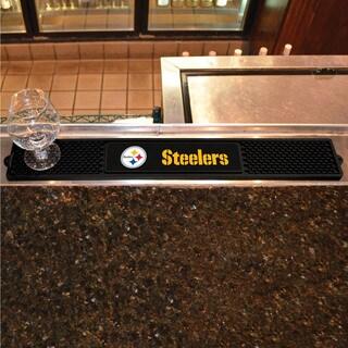Fanmats Pittsburgh Steelers Black Rubber Drink Mat