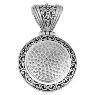 Sterling Silver 'Bali Art' Cawi Pendant (Indonesia)