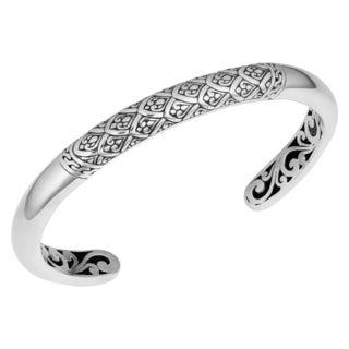 Sterling Silver 'Rain Forrest' Cawi Cuff Bracelet (Indonesia)